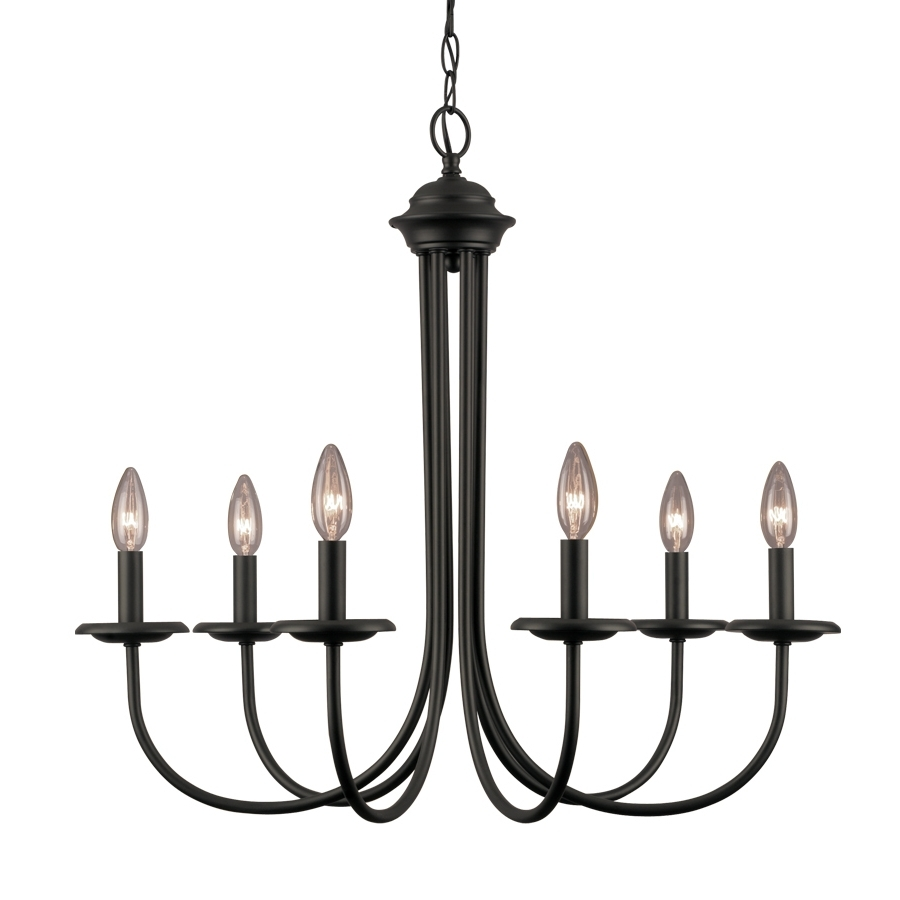 Most Current Black Iron Chandeliers Intended For Shop Portfolio  (View 15 of 20)