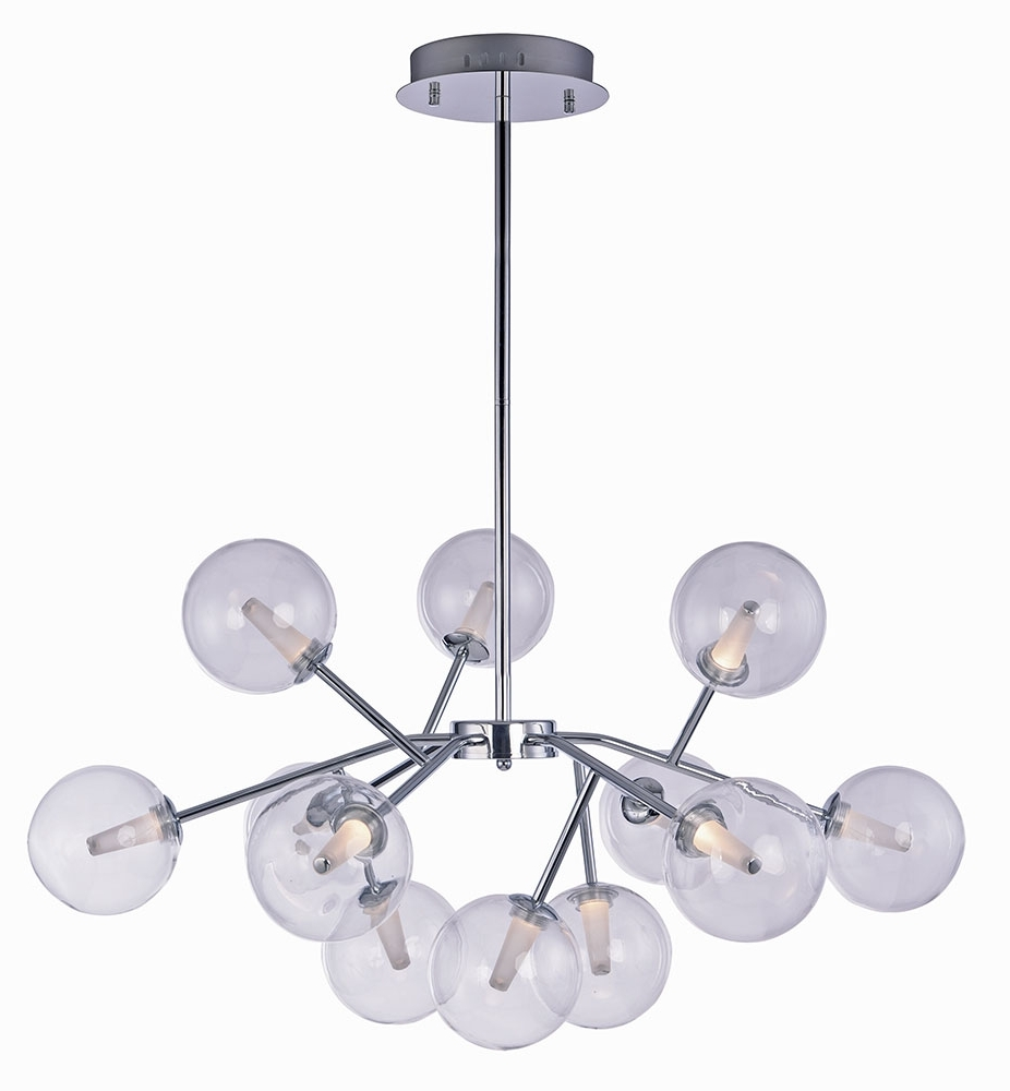 Most Current Chandelier Chrome Regarding Et2 E24284 24Pc Satellite Modern Polished Chrome Led Chandelier (View 15 of 20)