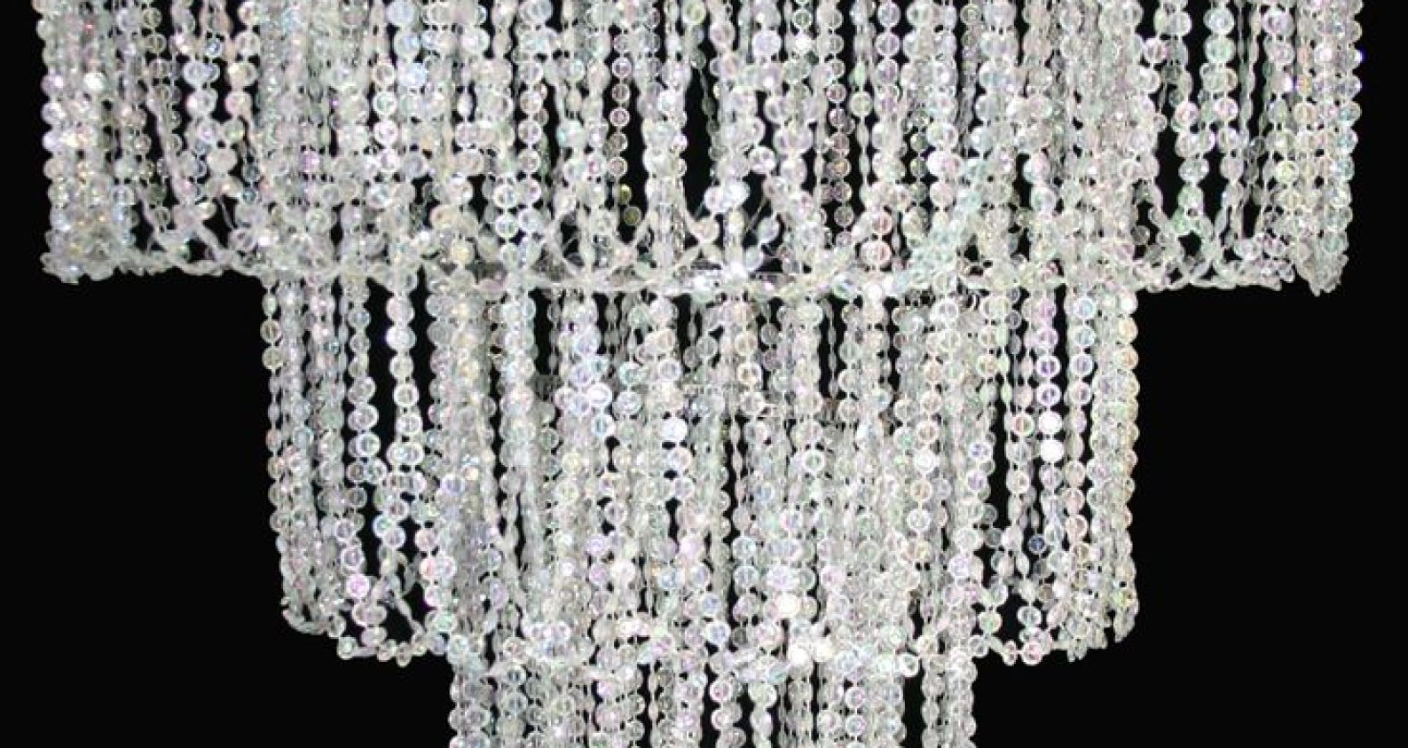Most Current Chandelier : Stunning Faux Crystal Chandelier Wedding Bead Strands Regarding Faux Crystal Chandelier Wedding Bead Strands (View 12 of 20)