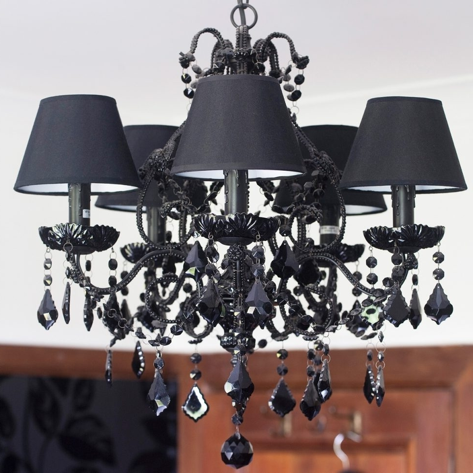 Most Current Chandeliers Design : Amazing Vintage Black Chandelier For Bedroom With Regard To Contemporary Black Chandelier (View 16 of 20)