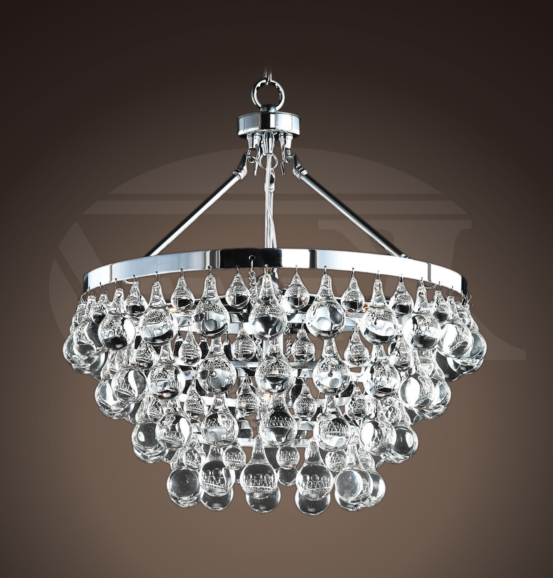 "Most Current Crystal And Chrome Chandeliers With Style Glass Crystal 5 Light Luxury Chrome Chandelier (19""hx (View 9 of 20)"