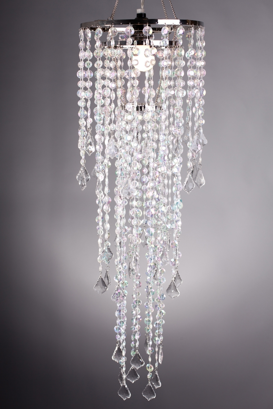 Most Current Diamante Duo Beaded Curtains, Chandeliers, Bead Rolls Intended For Faux Crystal Chandelier Wedding Bead Strands (View 13 of 20)