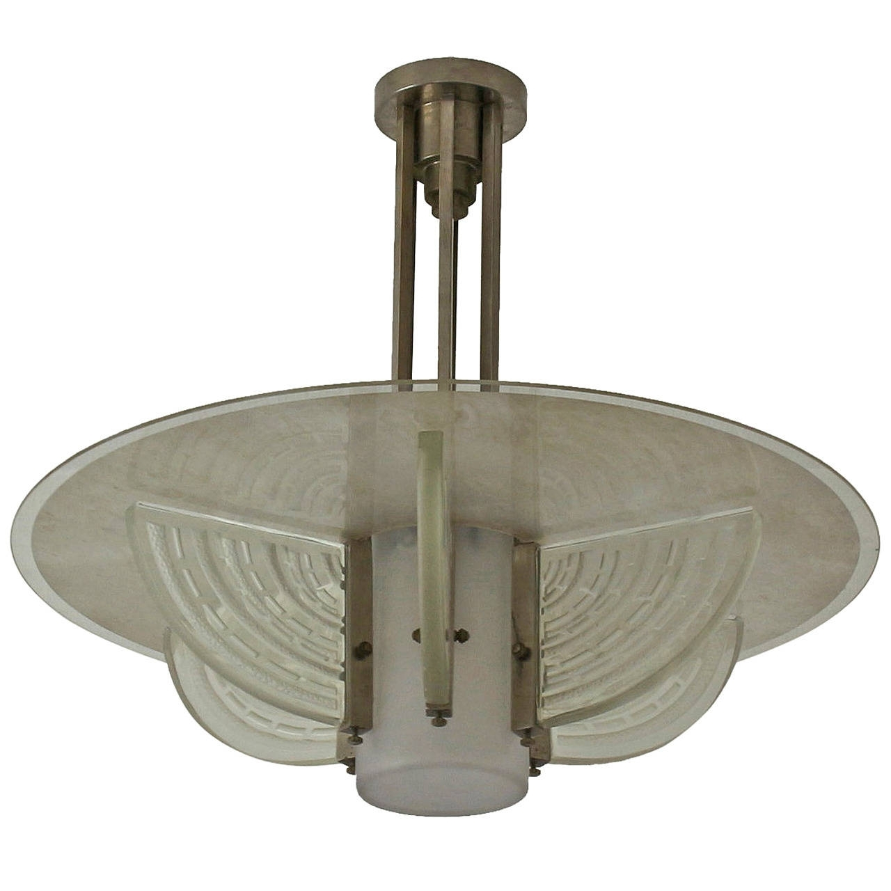 Most Current Fine French Art Deco Chandelierhettier Et Vincent For Sale At For Art Deco Chandelier (View 12 of 20)