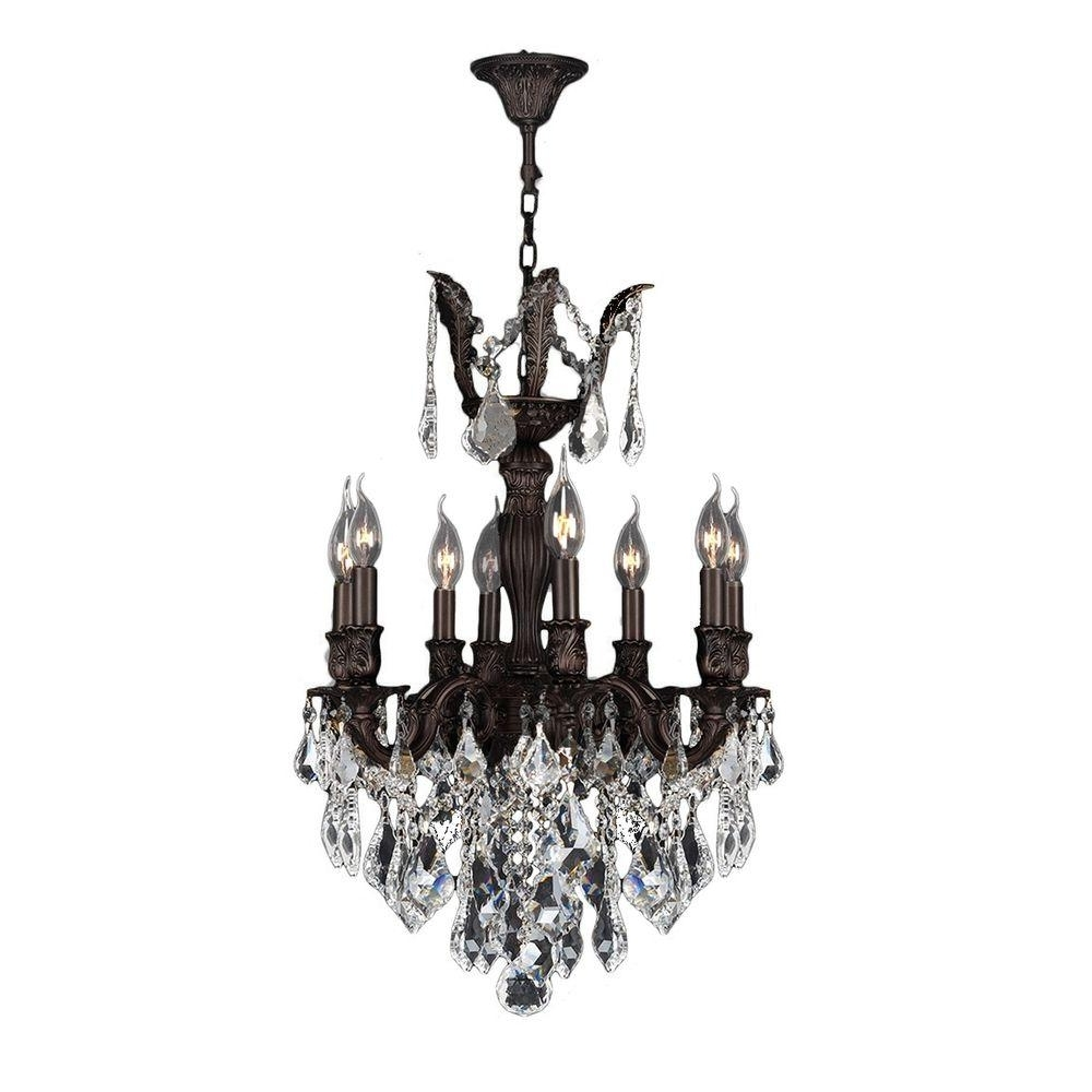 Most Current Flemish Brass Chandeliers For Worldwide Lighting Versailles Collection 8 Light Flemish Brass (View 9 of 20)
