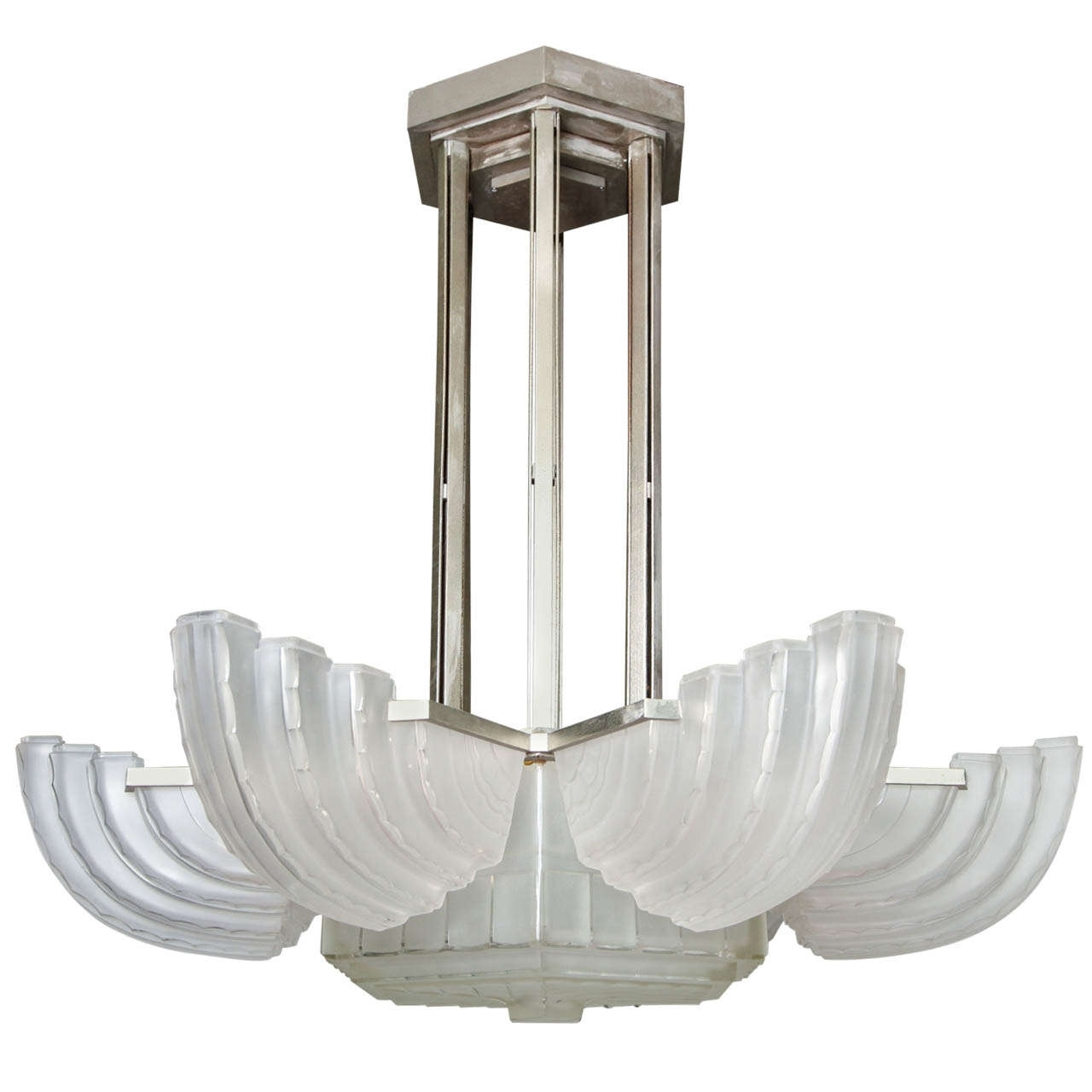Most Current Large Art Deco Chandelier Inside Large And Important Art Deco Chandeliersabino – Paul Stamati Gallery (View 13 of 20)