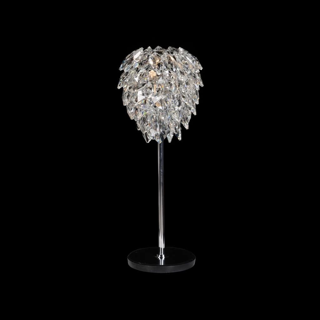 Most Current Lighting: Astounding Mini Glass Chandelier Table Lamp With Metal Throughout Mini Chandelier Table Lamps (View 15 of 20)