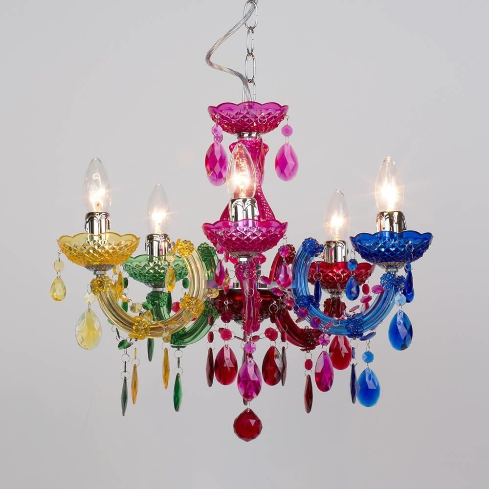 Most Current Marie Therese 5 Light Dual Mount Chandelier – Multicoloured Regarding Coloured Chandeliers (View 14 of 20)