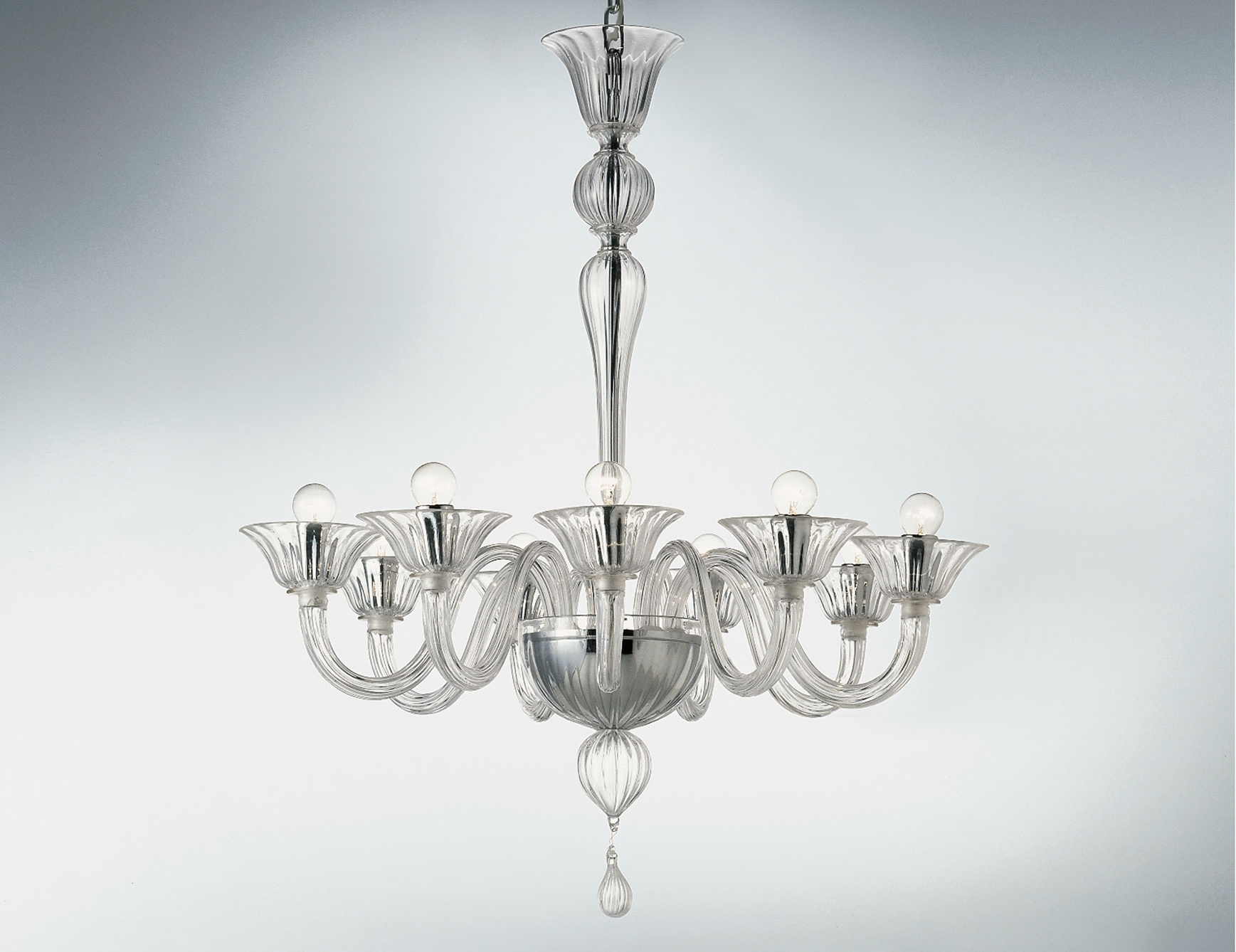 Most Current Nella Vetrina Cadona 8007 09 Venetian Chandelier In Clear Glass For Clear Glass Chandeliers (View 1 of 20)