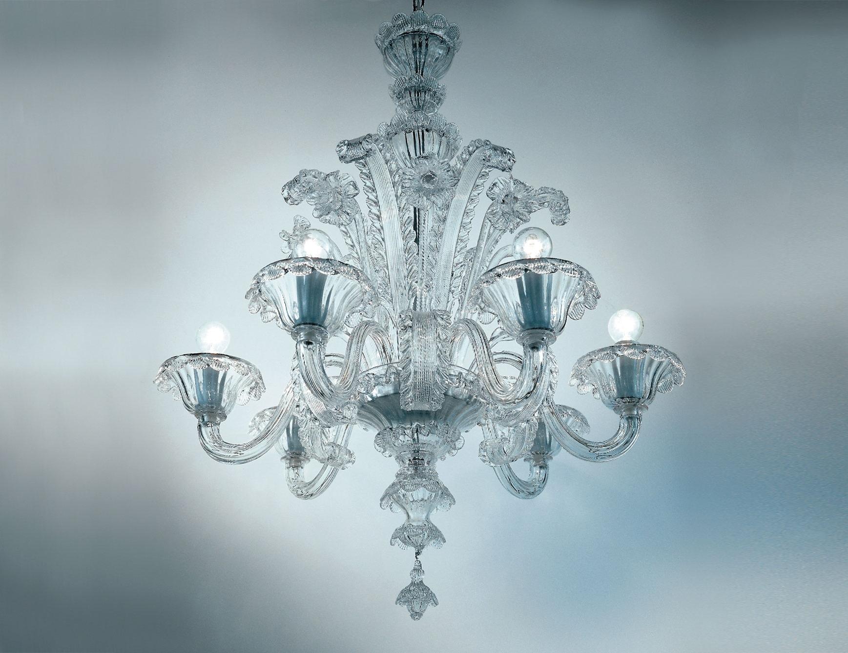 Most Current Nella Vetrina Veneziani Av Mazzega Dolfin 8004 06 Venetian For Clear Glass Chandeliers (View 6 of 20)