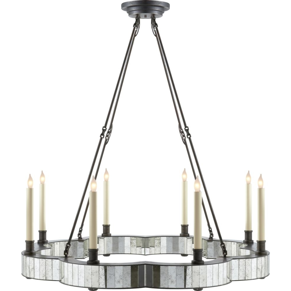 Most Current Visual Comfort David Easton Claridge Round Chandelier In Aged Iron Intended For Antique Mirror Chandelier (View 12 of 20)