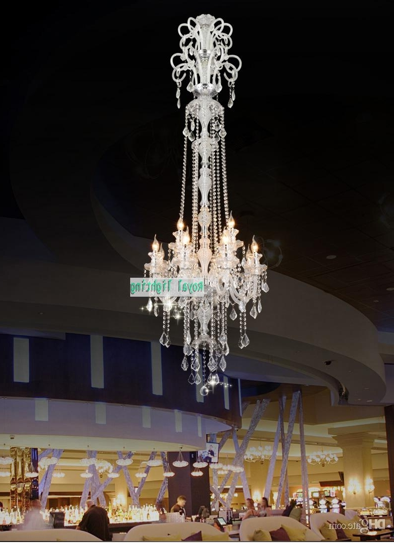 Most Popular 205cm Long Big Chandelier E14 Led Lamps Modern Large Luxury Crystal In Long Hanging Chandeliers (View 3 of 20)