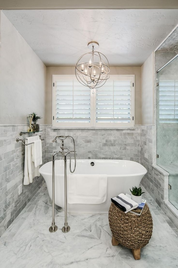 Most Popular Bathroom Chandeliers Chandelier Ceiling Lights Crystal Chandelier Pertaining To Modern Bathroom Chandelier Lighting (View 17 of 20)