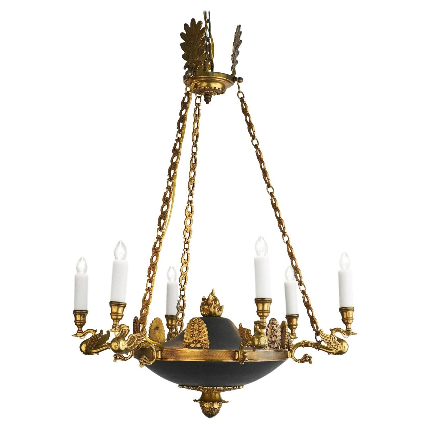 Most Popular Bronze Empire Style Chandelier From France – Jean Marc Fray Within Antique Looking Chandeliers (View 16 of 20)