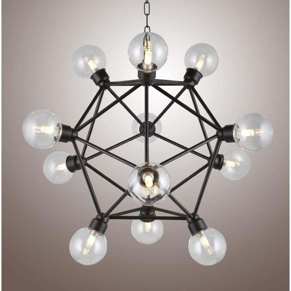 Most Popular Caged Chandelier In Axis Chandelier Sputnik Lamp Smoke Crystal Bar Orbit Chandelier (View 13 of 20)