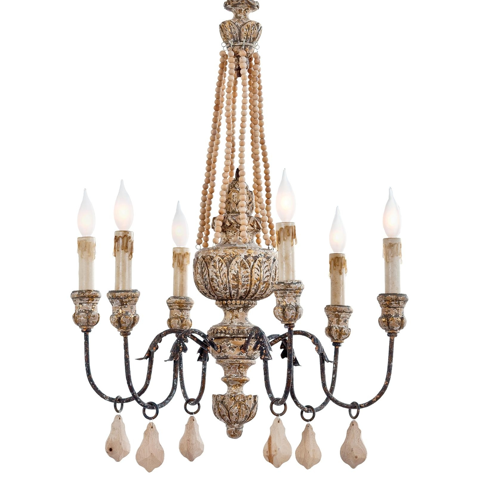 Most Popular Chandelier Accessories Throughout Lighting: Elegant Wooden Chandeliers For Home Accessories Ideas With (View 4 of 20)