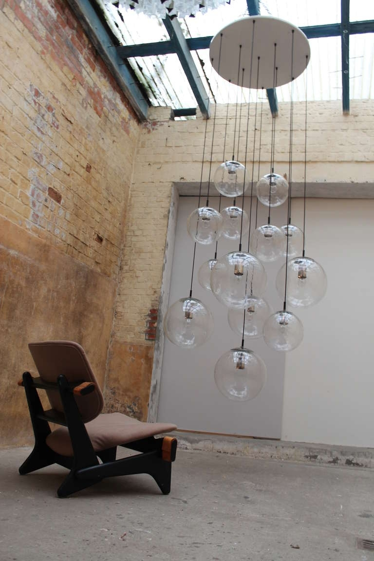Most Popular Extra Large Modern Chandeliers Intended For 2 Impressive Xxl Glass Balls Chandeliersraak Amsterdam Holland (View 15 of 20)
