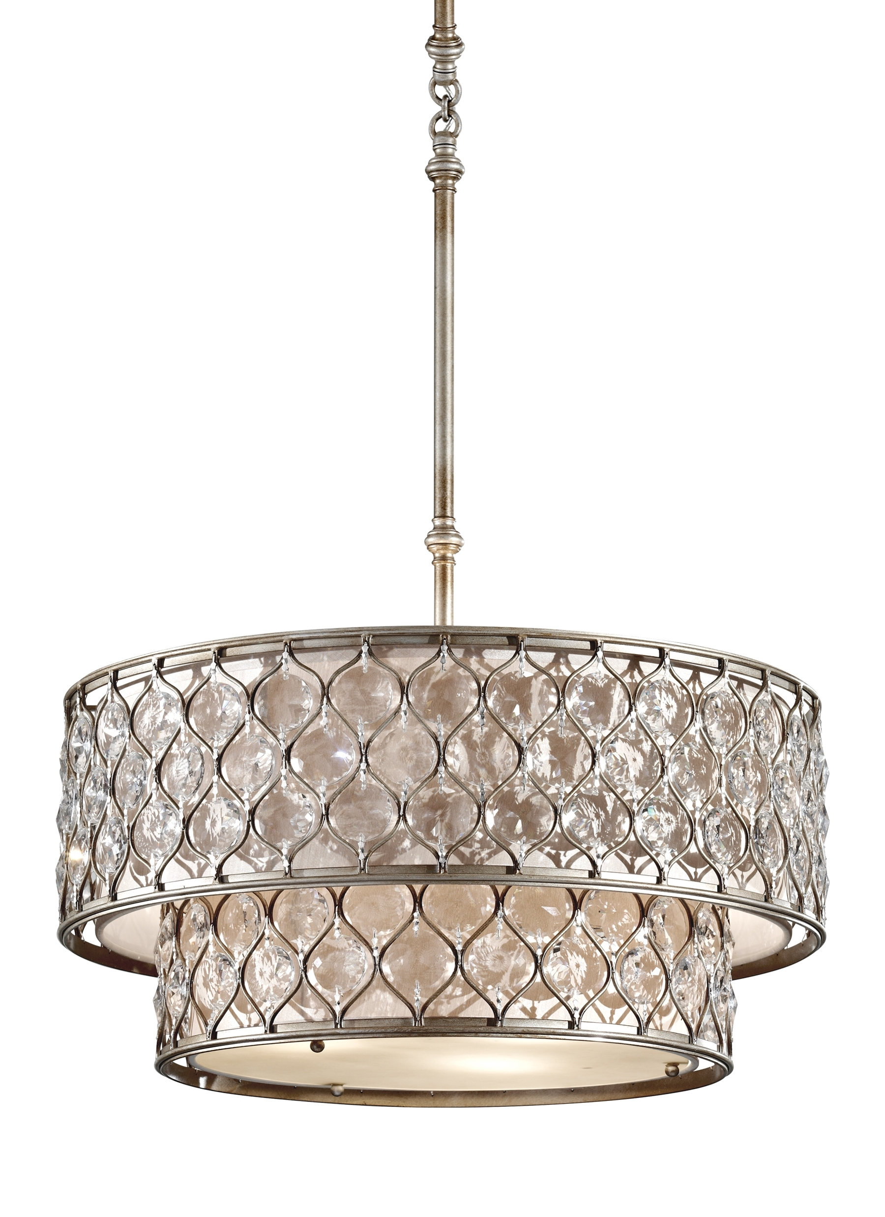 Most Popular F2707/6bus,6 Light Chandelier ,burnished Silver Regarding Feiss Chandeliers (View 12 of 20)