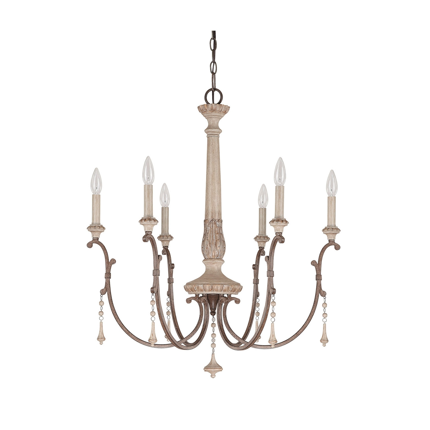 Most Popular French Chandelier Intended For Capital Lighting Fixture Company Chateau French Oak Six Light (View 15 of 20)