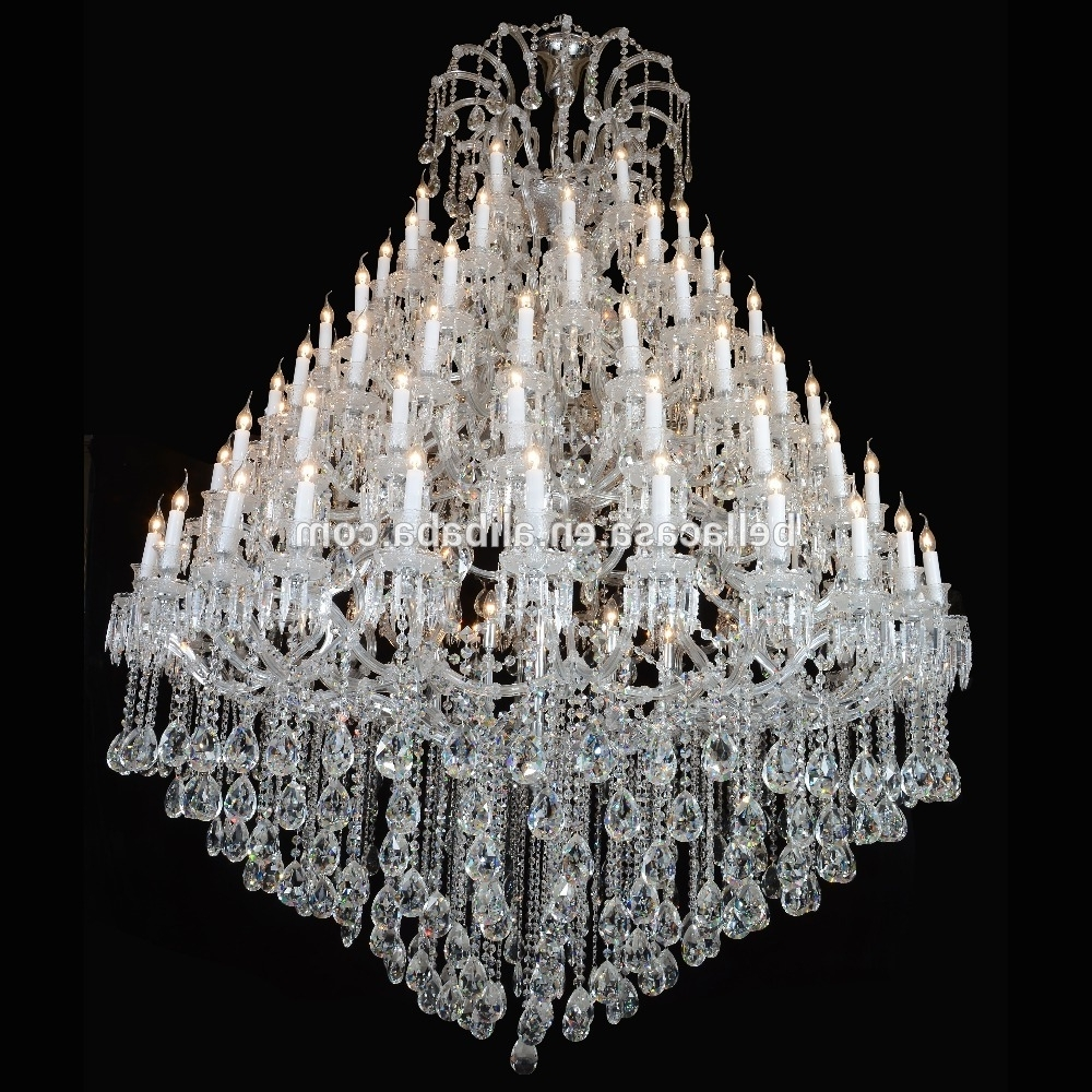 Most Popular Large Crystal Chandeliers For Hotels, Large Crystal Chandeliers For Regarding Large Crystal Chandeliers (View 9 of 20)