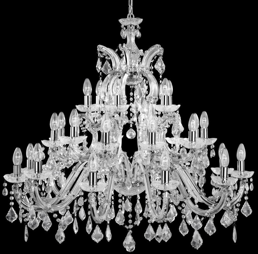 Most Popular Large Crystal Chandeliers Throughout Chandelier: Awesome Large Crystal Chandelier Extra Large Crystal (View 13 of 20)