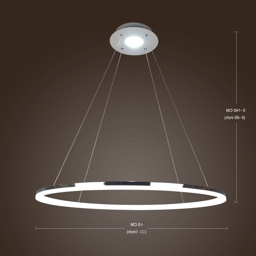 Most Popular Modern Led Chandelier Intended For In Stock) Ceiling Lights Modern Led Acrylic Pendant Light Living Led (View 16 of 20)