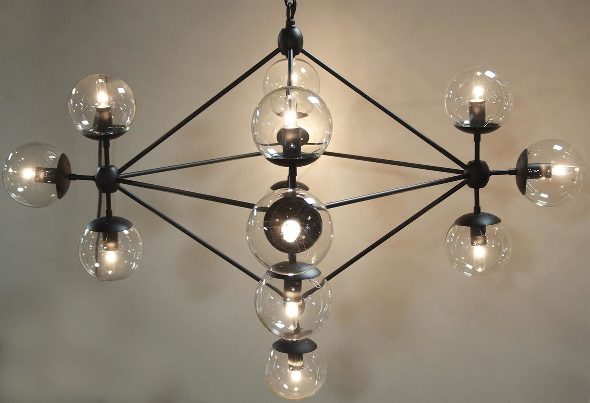 Most Popular Noir Pluto 13 Light Sputnik Chandelier & Reviews (View 19 of 20)
