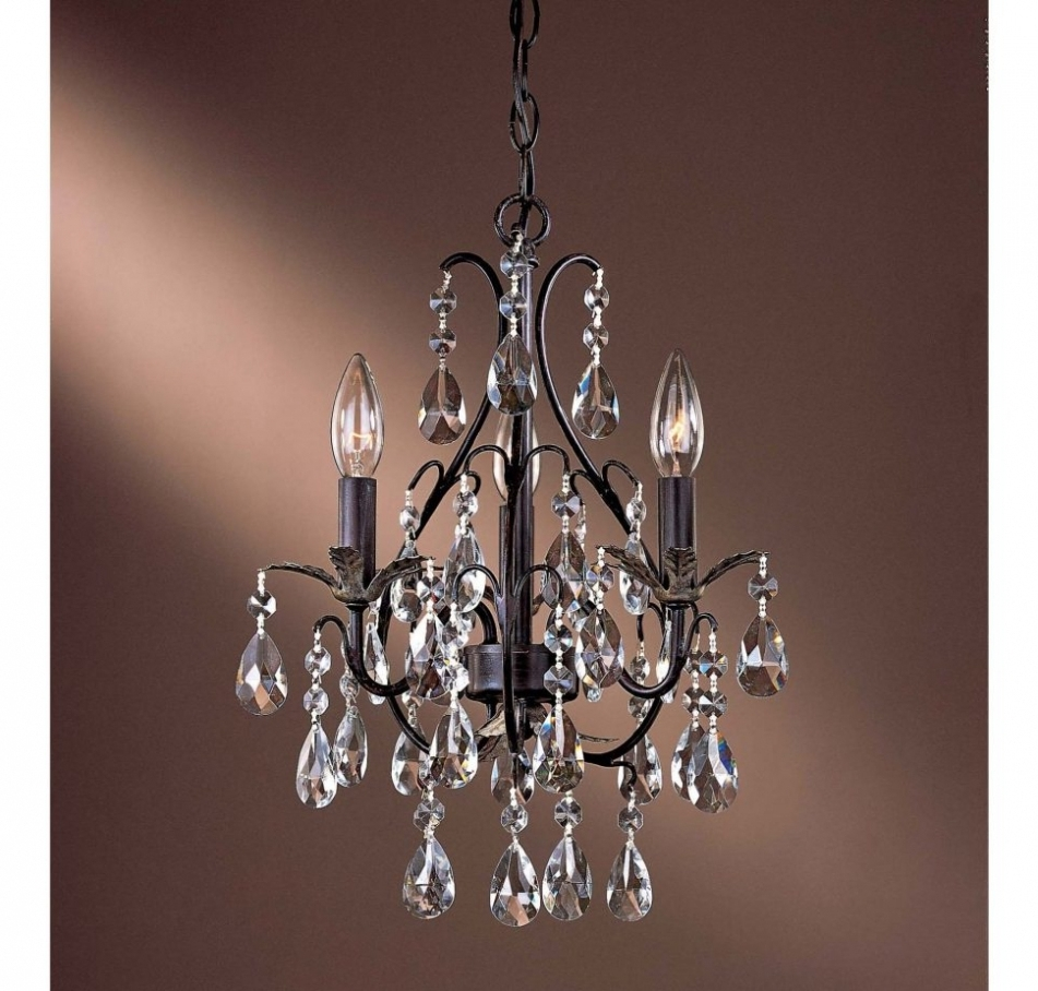 Most Popular Purple Crystal Chandelier Lights Inside Chandelier ~ Chandelier : Chandelier 3 Light Mini Chandelier Black (View 7 of 20)