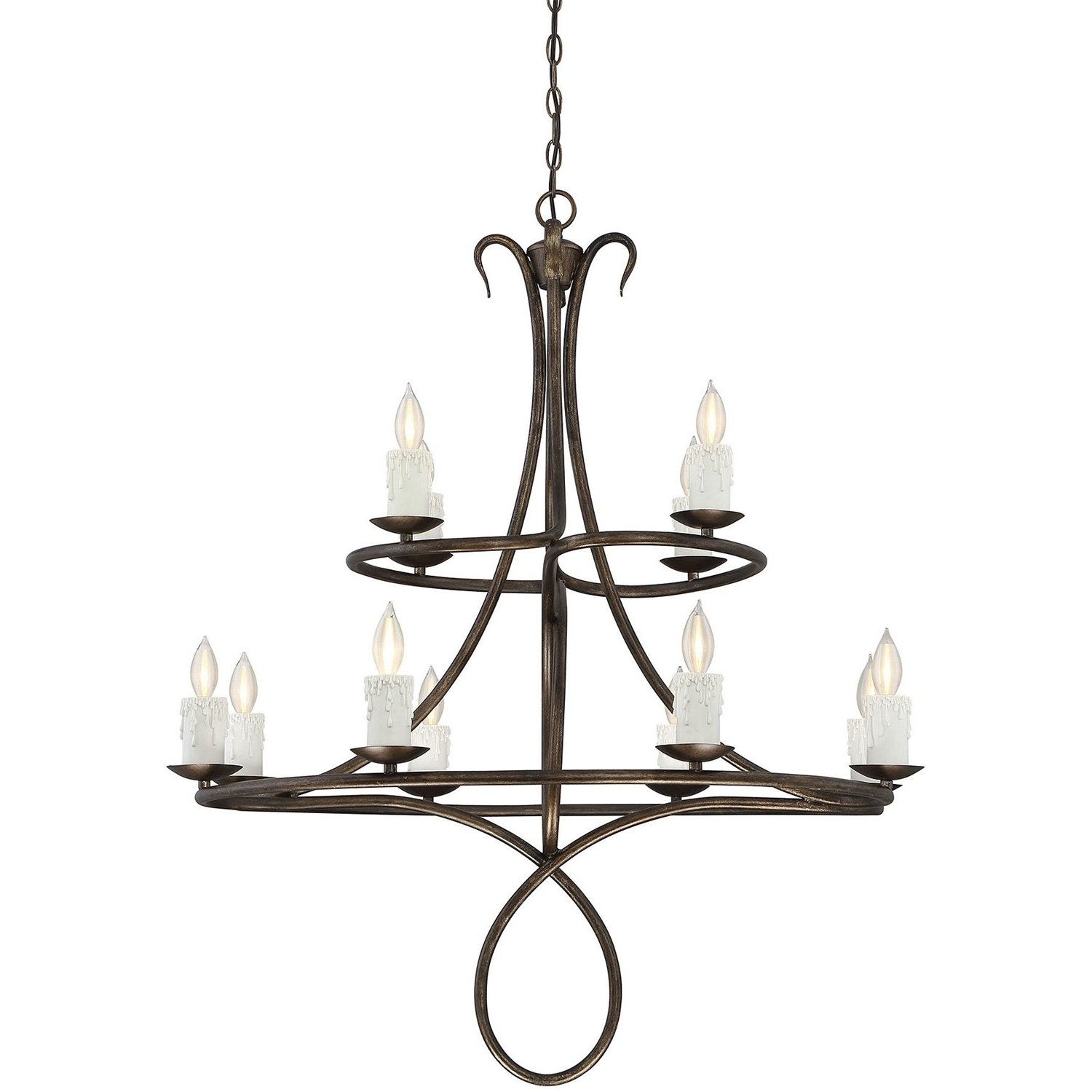 Most Popular Savoy House Chandeliers With Regard To Savoy House 1 171 12 131 Lynch 12 Light Chandelier In Guilded Bronze (View 4 of 20)