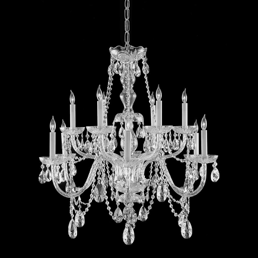 Most Popular This Crystal Candelabra Chandelier Provides Luxurious Illumination Intended For Crystal Chandeliers (View 13 of 20)