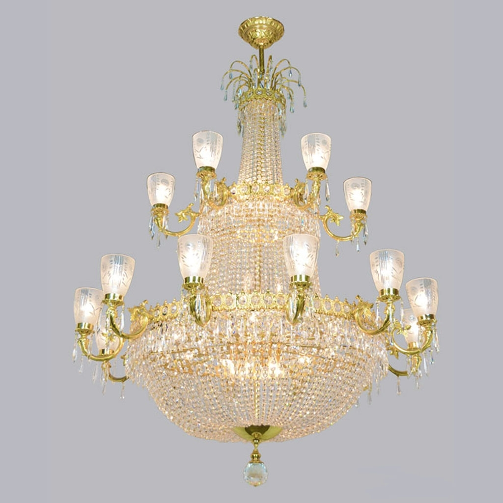 Most Recent Ballroom Chandeliers With Magnificent Large Vintage Ballroom Crystal Chandelier (ant 372) For (View 14 of 20)