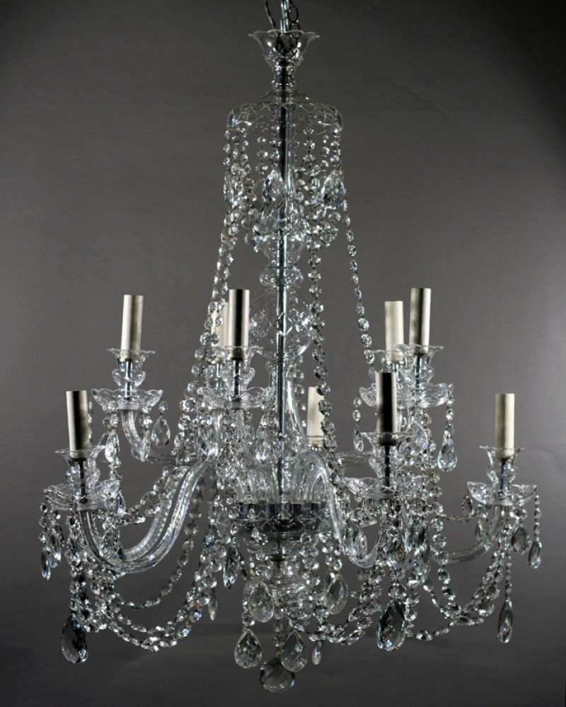 Most Recent Branch Crystal Chandelier Regarding Crystal Chandelier, 10 Branch Antique Bohemian Crystal Chandelier (View 16 of 20)