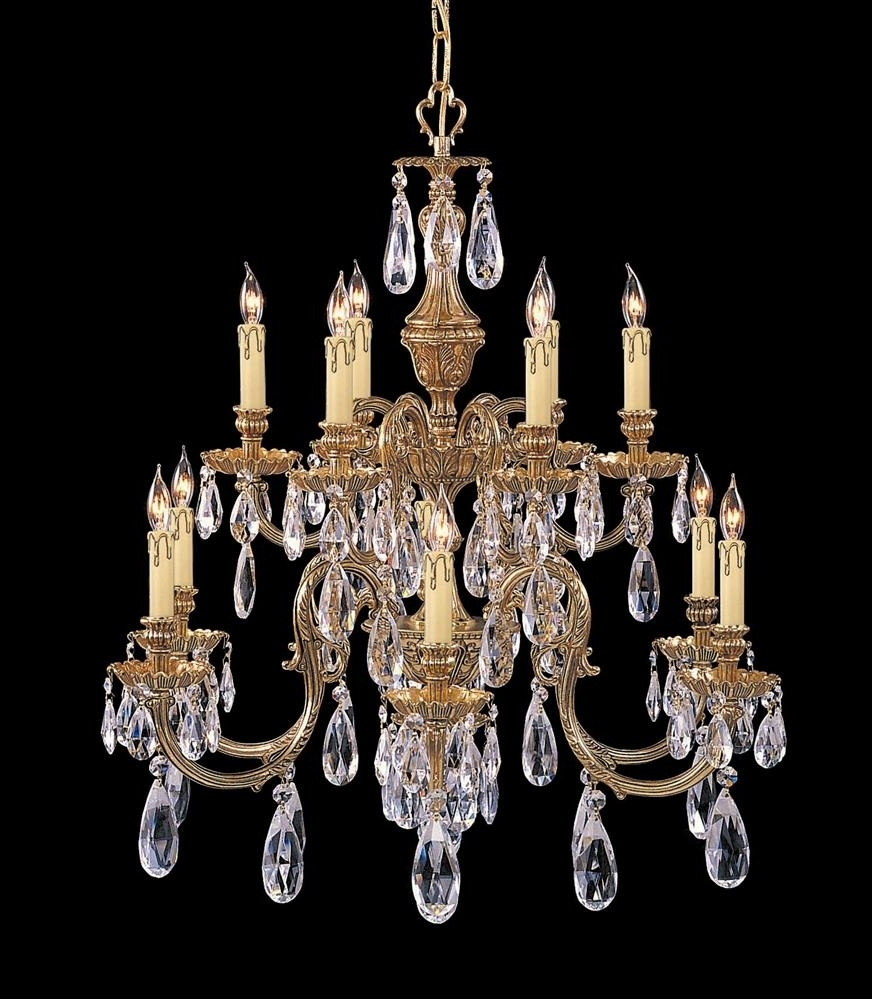 Most Recent Buy 8 Lights Antique Brass Chandelier Accented W Crystal In Crystal And Brass Chandelier (View 16 of 20)