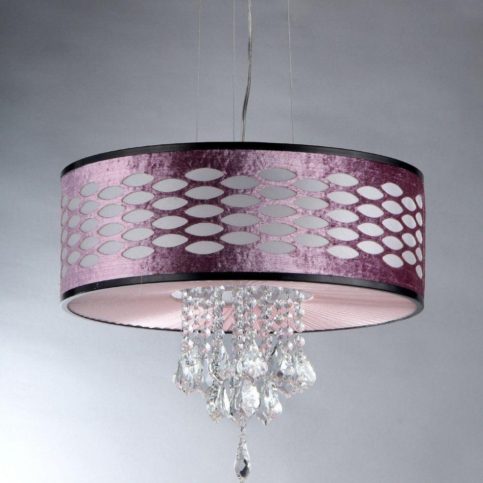 Most Recent Chandelier ~ Warehouse Of Tiffany Pattern Crystal 5 Light Chrome With Regard To Purple Crystal Chandelier Lighting (View 15 of 20)