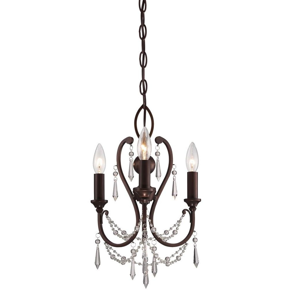 Most Recent Chandeliers Vintage Regarding Minka Lavery 3 Light Vintage Bronze Mini Chandelier 3138 284 – The (View 16 of 20)