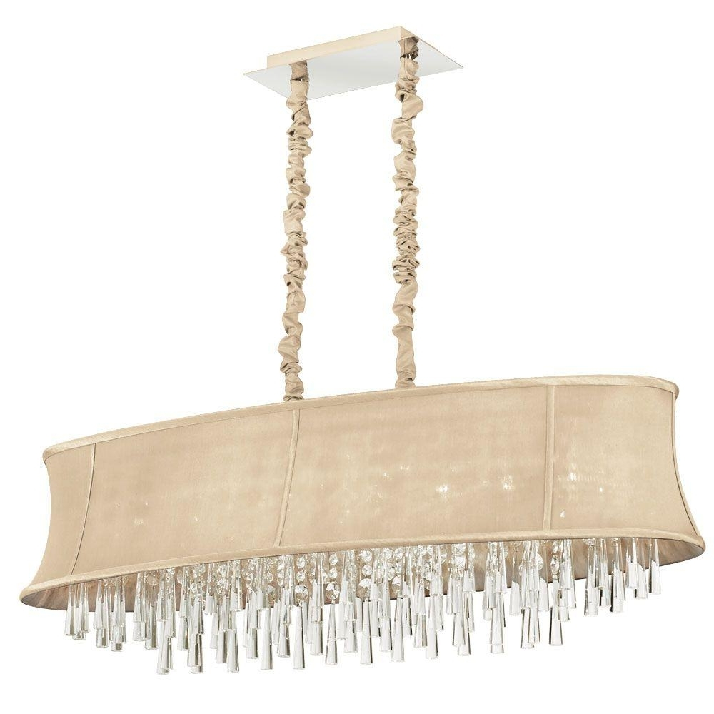 Most Recent Cream Chandeliers Inside Filament Design Minta 8 Light Polished Chrome Chandelier With Cream (View 19 of 20)