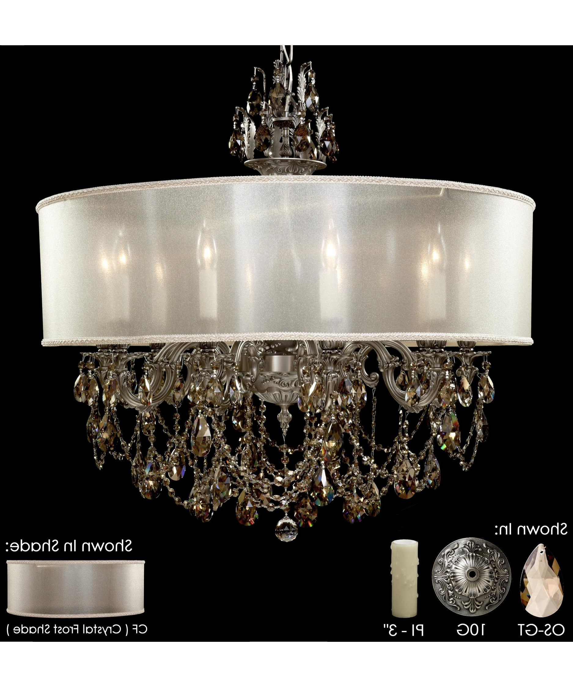 Most Recent Crystal And Brass Chandelier With American Brass And Crystal Ch6562 Llydia 32 Inch Wide 10 Light (View 17 of 20)