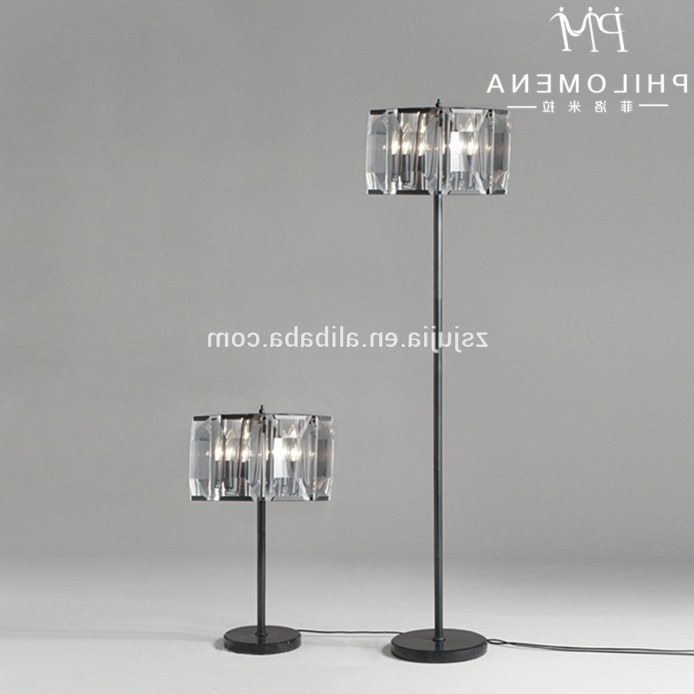 Most Recent Crystal Lamp Stand, Crystal Lamp Stand Suppliers And Manufacturers For Black Chandelier Standing Lamps (View 13 of 20)