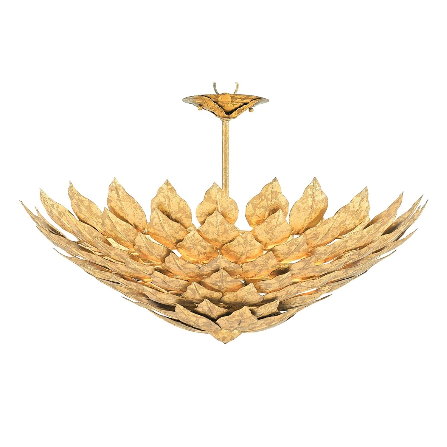 Most Recent Currey And Company 9000 0101 Oleander 3 Light Chandelier In Rustic Throughout Gold Leaf Chandelier (View 16 of 20)