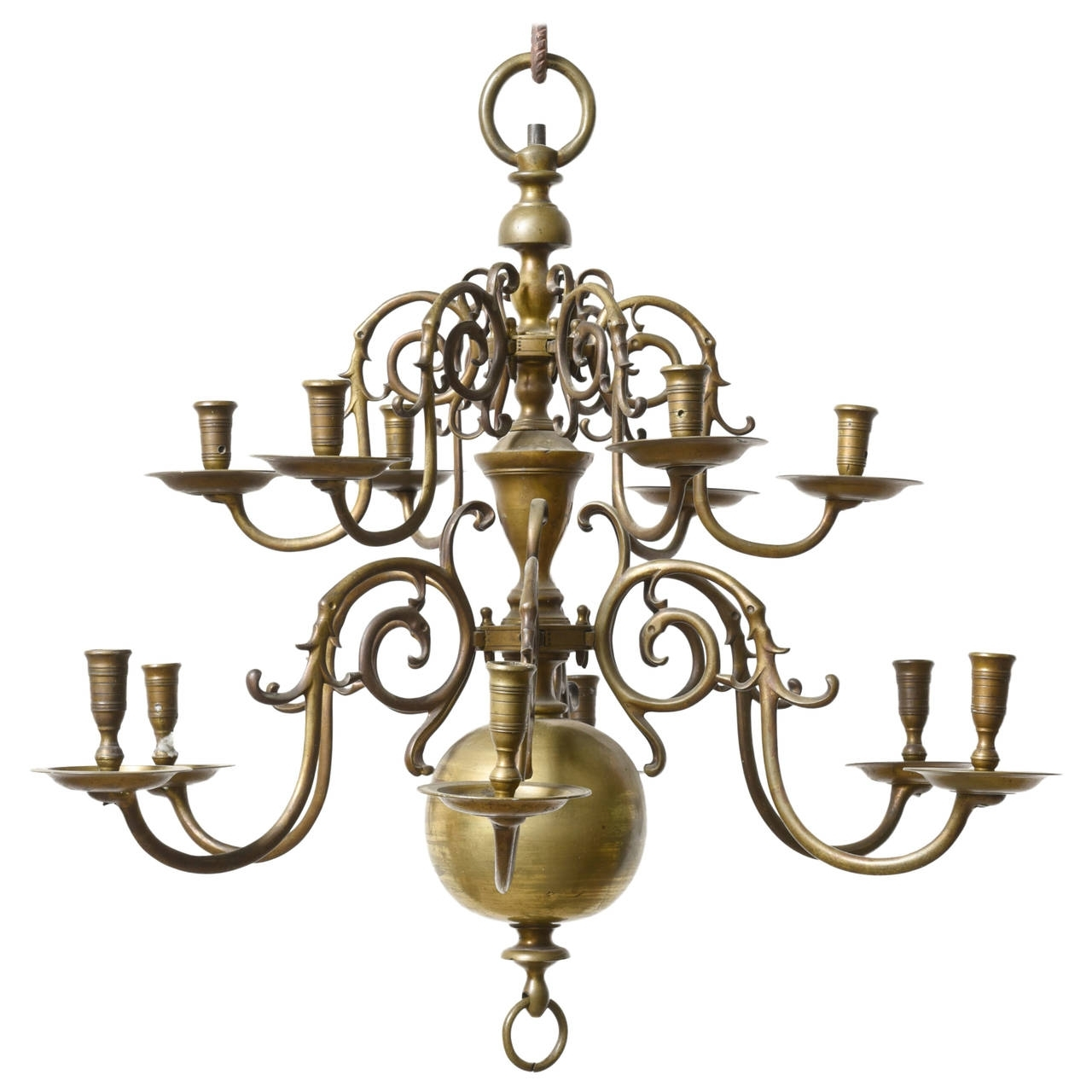 Most Recent Dutch Baroque 18Th Century Bronze Two Tier Chandelier For Sale At Intended For Baroque Chandelier (View 15 of 20)