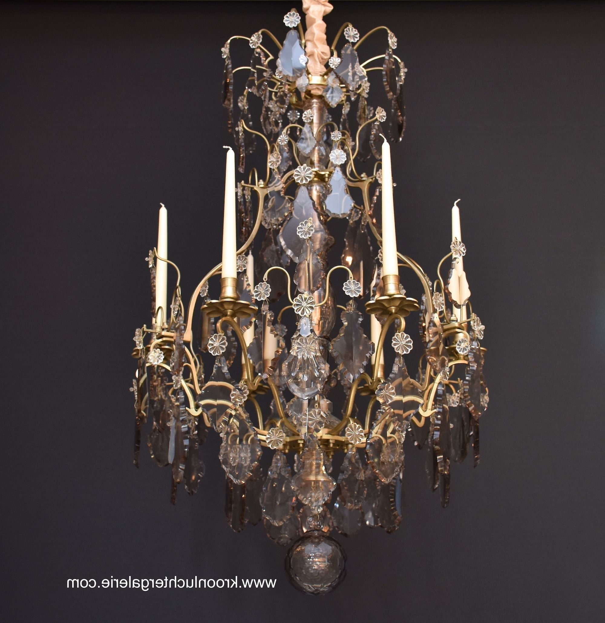 Most Recent French Chandelier With Candles In The Style Of Louis Xv, Ref (View 14 of 20)