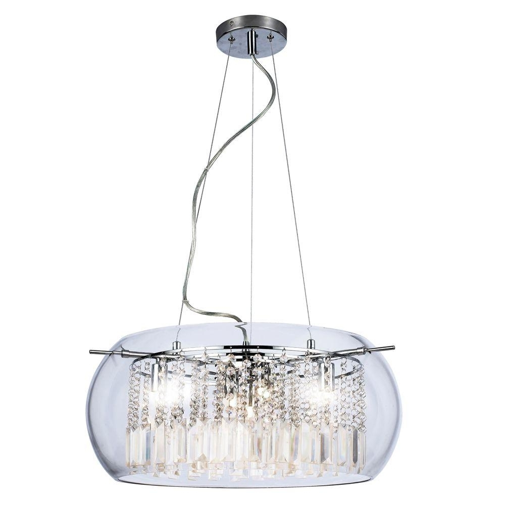 Most Recent Home Decorators Collection Baxendale 5 Light Chrome Chandelier With For Crystal Chrome Chandelier (View 8 of 20)