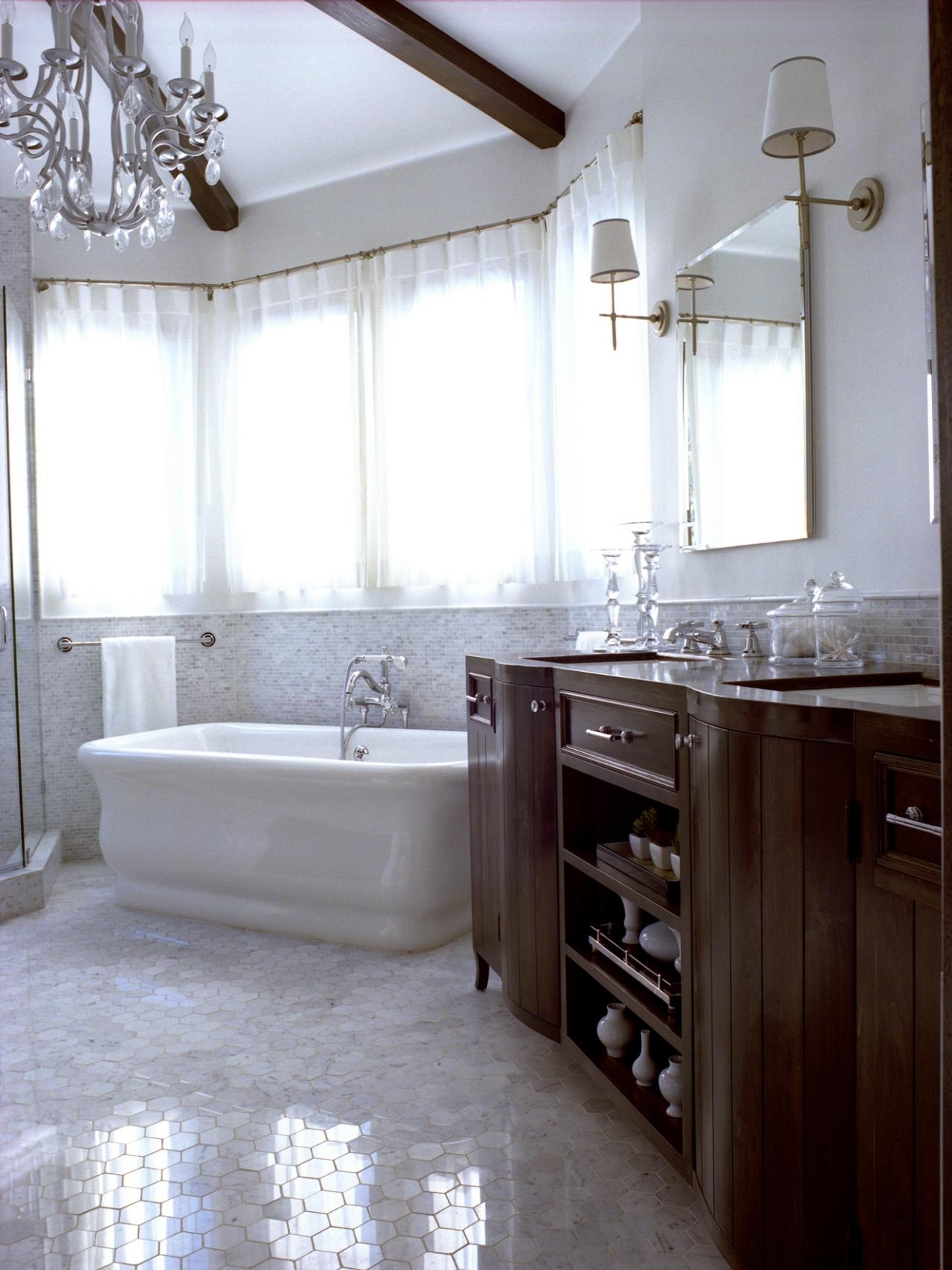 Most Recent Light : Cute Bathroom Chandelier For Small Spaces Creative French Inside Bathroom Chandelier Lighting (View 20 of 20)