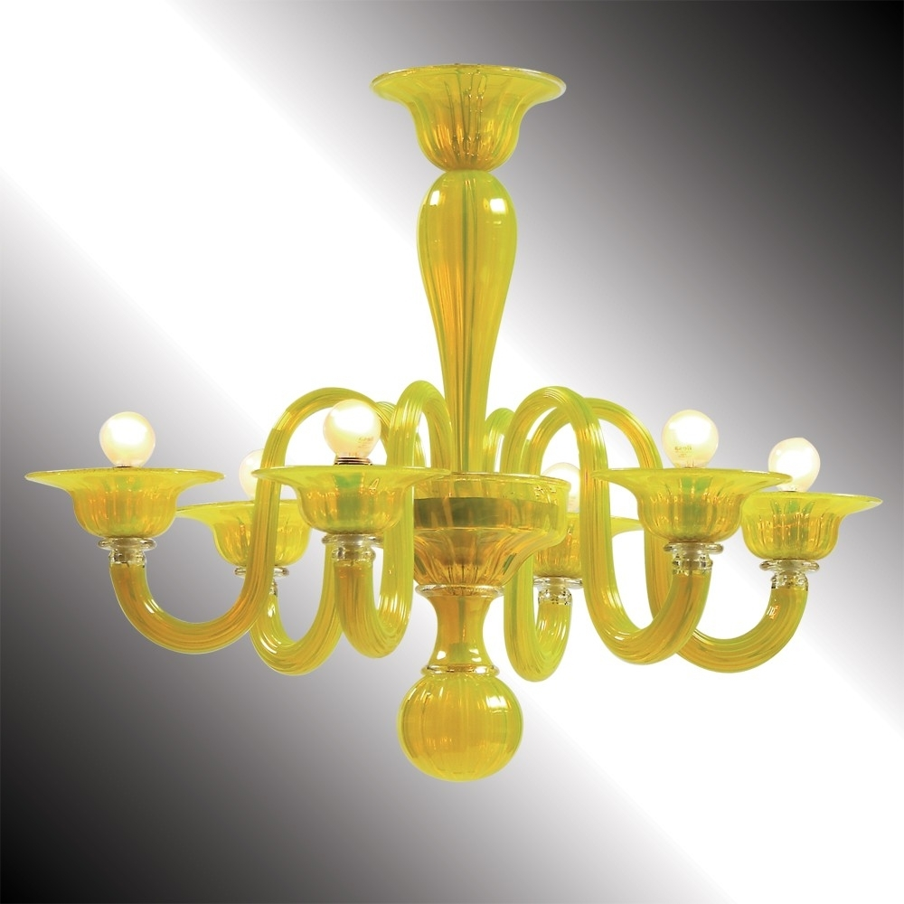 "Most Recent Limone"" Yellow Murano Glass Chandelier – Murano Glass Chandeliers With Regard To Glass Chandelier (View 10 of 20)"