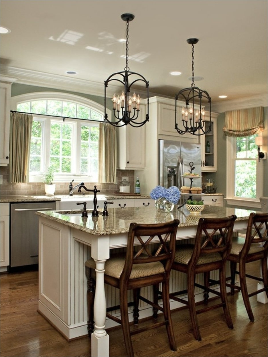Most Recent Marvellous Design Kitchen Island Lighting Ideas With Black Pottery Throughout Caged Chandelier (View 4 of 20)