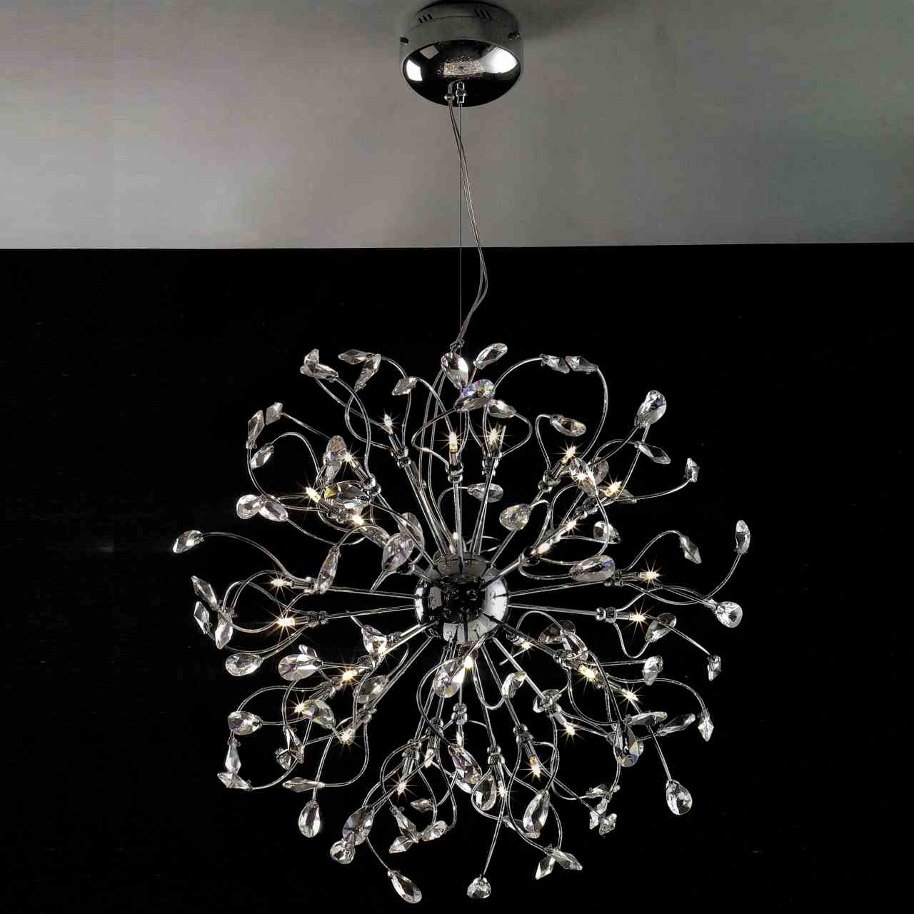 Most Recent Modern Chrome Chandeliers In Brizzo Lighting Stores (View 5 of 20)