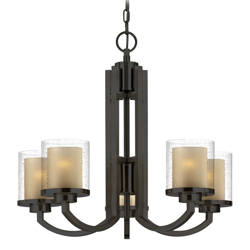 Most Recent Modern Small Chandeliers Pertaining To Vintage Look Modern Hanging Chandelier With Bronze Stand And Glass (View 14 of 20)