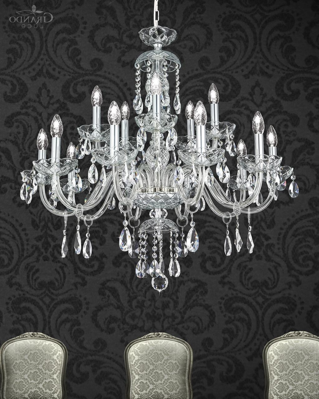 Most Recently Released 104/ch 10+5 Chrome Crystal Chandelier – Grandoluce With Regard To Chrome And Crystal Chandeliers (View 20 of 20)