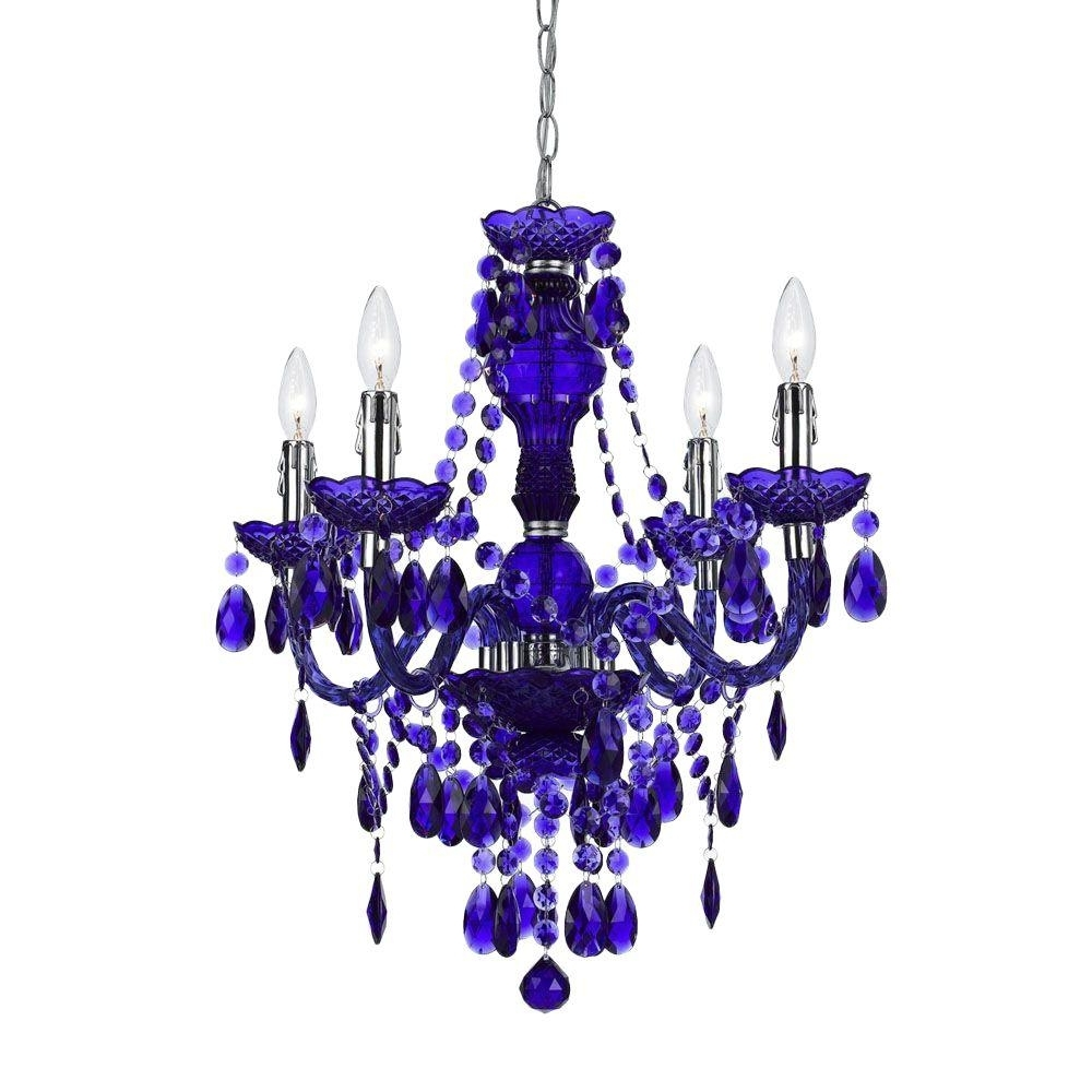 Most Recently Released Af Lighting Naples 4 Light Metallic Mini Chandelier With Iridescent With Purple Crystal Chandeliers (View 4 of 20)