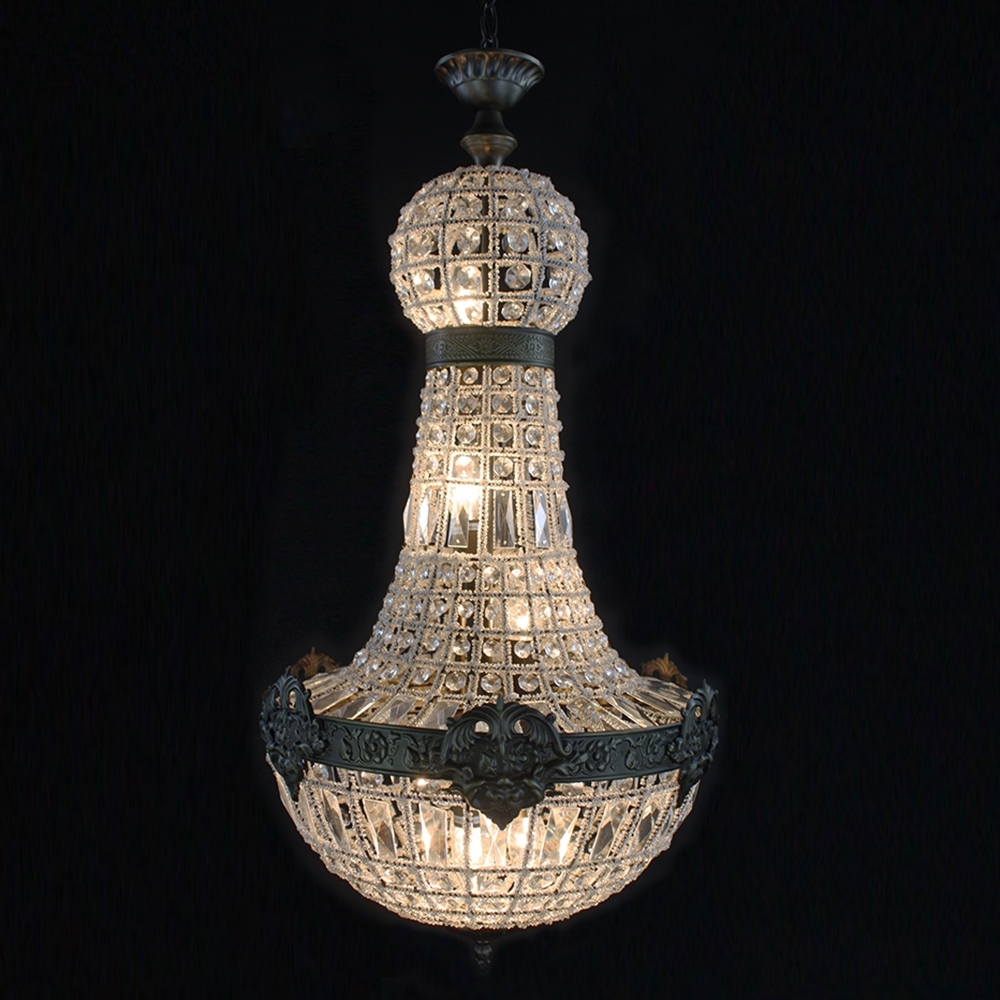 Most Recently Released Big Crystal Chandelier Intended For Retro French Empire Church Style Crystal Chandelier Big Led Oval (View 14 of 20)