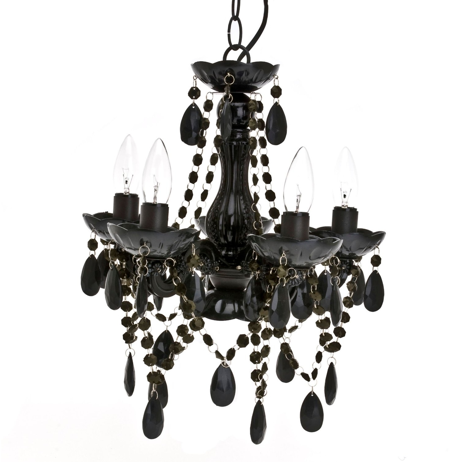 Most Recently Released Chandeliers Design : Magnificent Chic Chandelier Bathroom Lighting With Black Chandeliers (View 16 of 20)